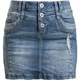 Sublevel - Ladies Destroyed Denim Skirt - Klänningar - Dam-Kort kjol - blå