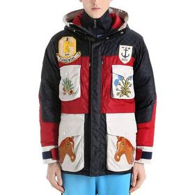 Gucci Caban Down Jacket Red/White/Blue