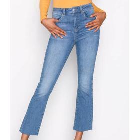 Gina Tricot Nicole Kick Flare Jeans - Mid Blue