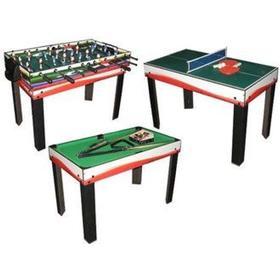 Megaleg Multibord 3i1 Fodbold/Pool/Bordtennis