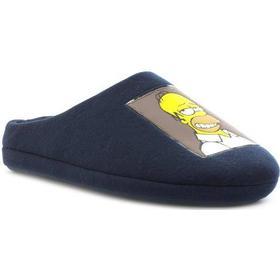 The Simpsons Mens Navy Homer Mule Slipper