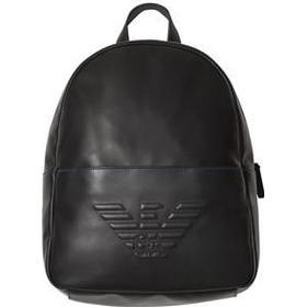Emporio Armani Black Eagle Embossed Backpack Rygsække