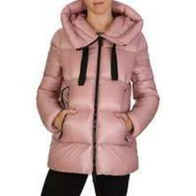 Moncler Pink Hooded Puff Coat - Size 10