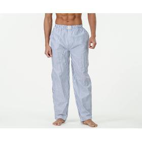 Resteröds Woven Pyjama Pants - Vit/Blå - male - Kläder XL