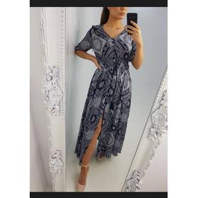 Raye Paisley Print Tassel Maxi Dress