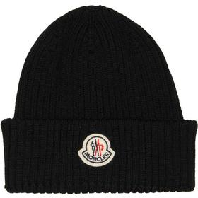 Moncler Ribbed Beanie - Navy