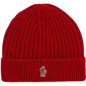Moncler Grenoble Logo Beanie - Red