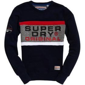 Superdry Trophy Sweatshirt - Trophy Navy