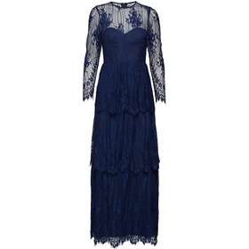 85b9a41c lang kjole dametøj. By Malina Annie Maxi Dress - Dark Blue