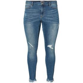 Junarose Ankle Length Jeans - Blue/Medium Blue Denim