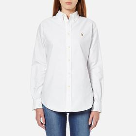 Ralph Lauren Custom Fit Cotton Oxford Shirt - White