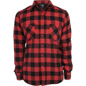 Urban Classics Checked Flannel Shirt - Blk/Red