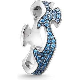 3c99bdb5397d Georg Jensen Fusion Centre White Gold Ring w. Blue Sapphire (3570500)
