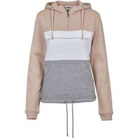Urban Classics Color Block Sweat Pull Over Hoody - Lightrose Grey White d9c95850c29dd