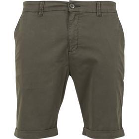 Urban Classics Stretch Turnup Chino Shorts - Dark Olive