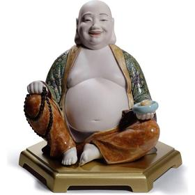 Lladro Happy Buddha 21cm Prydnadsfigur