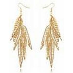 (1 Paar) Europäisch (Goldene Blätter) Goldlegierung Ohrringe
