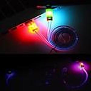 1M LED-Lächeln-Gesicht USB Lighting Sync Datenkabel für iPhone 4/4S (zufällige Farbe)
