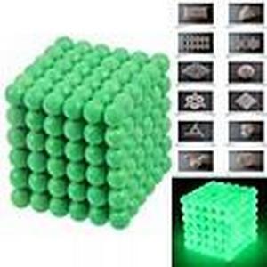 216pcs 5mm DIY Buckyballs and Buckycubes Magnetic Blocks Balls Toys Fluorescent Green
