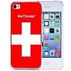 : Personalisierte Geschenke Die Flagge der Schweiz Fußball-Stil zurück Fall für iPhone 5/5S
