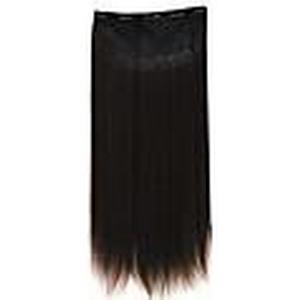 100% Wärme freundliche synthetische seidige gerade Clip in Haarverlängerungen