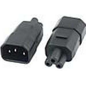 0,05 M 0.15FT IEC C6 3Pin Stecker auf 3Pin C13 Female Micky Mini Power Adapter Konverter 220V 240V Kostenloser Versand