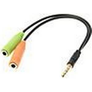 0,15 M 0.5FT Auxiliary AUX Audio Stereo Kabel 3,5 mm Klinke Stecker auf 2 Female Cord