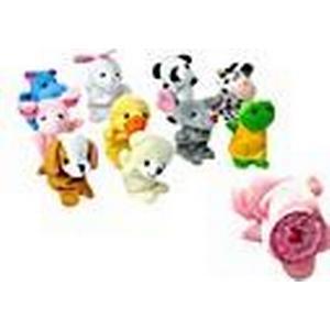 10 PCS Velvet Tiere Fingerpuppen / Babyspielzeug / Plüschtiere für Kinder Favor RPG Kid Bed Geschichte