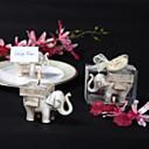 """""""Glück Elefanten"""" antike Elfenbein-Finish Teelichthalter"""