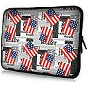 """American Flag Pattern"" Pattern Waterproof-Hülsen-Kasten für 7 ""/ 10"" / 11 ""/ 13"" / 15 ""Laptop  Tablet"