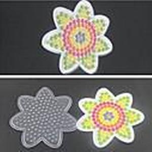 1pcs Vorlage klar pegboard Blume für 5mm Hama Perlen Perler Perlen Bügelperlen