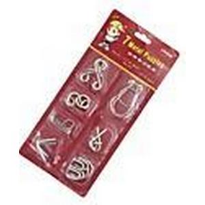 7tlg klassischen Knoten geistigen Abzug iq Teaser Ring Puzzle Spielzeug Anleitung enthalten