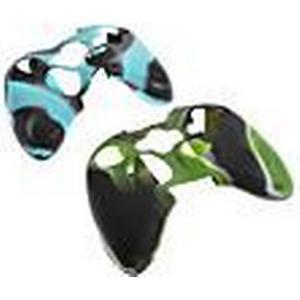 2pcs Camouflage Schutzmaßnahmen Silikon Skin für Xbox360-Controller