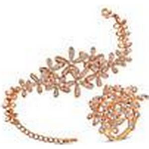 2014 neue roxi Mode Frauen Goldschneeflocke-Set, aaa Zirkon, Valentinstag / Chrismas / Hochzeitsgeschenk. vergoldet