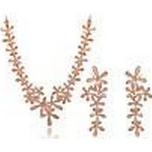 2014 neue roxi Mode Frauen Goldschneeflocke-Set, aaa Zirkon, Valentinstag / Chrismas / Hochzeitsgeschenk .18k vergoldet