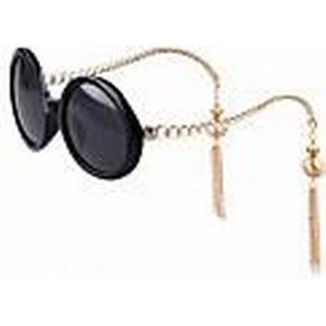 100% UV400 Frauenrunde Polycarbonat Retrosonnenbrille