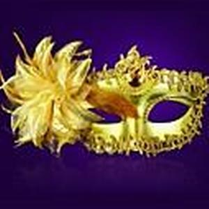 1pc Kunststoff mit Kristall Blume Glod vizard Maske Venedig priness