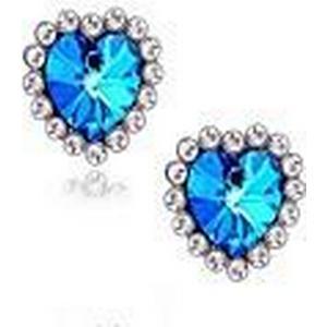 (1 Paar) europäische (blauer Diamant Edelsteine) als Bild-Legierung Ohrstecker