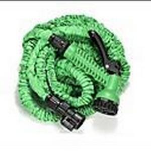 25FTHose mit Gun WASSER GARTEN Rohr Grüne Wasserventil Spritzpistole mit EU-Stecker