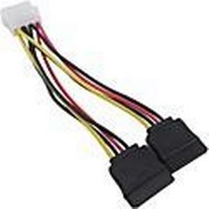 , 4-polig IDE / Molex auf 2 x 15 Pin SATA-Stromadapterkabel Kostenloser Versand