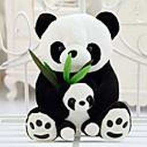 25cm Mutter und Kind panda Stofftier (schwarzamp;Weiß)