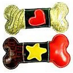 """""""HERZ"""" Pattern Knochenform echtes Leder Chewing Spielzeug für Haustiere Hunde"""