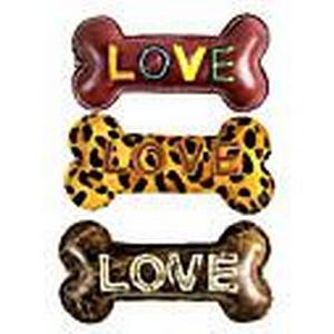 """""""LOVE BONE"""" Echtes Leder Puppy Form Chewing Spielzeug für Haustiere Hunde (Farbe sortiert)"""