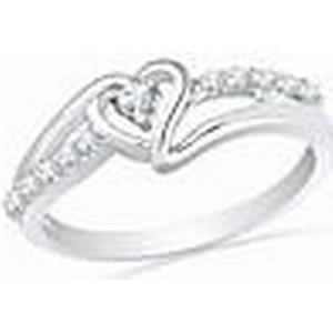 """""""Amazon heißen Verkauf Stil"""" 925 Sterling Silber Runde Diamant Herz Promise Ring"""