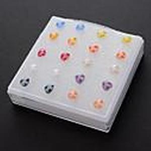 (10 Paare) Fashion (Herz) Multicolor Silicon Ear Piercings