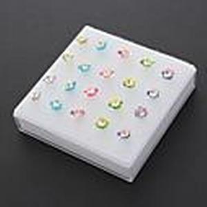 (10 Paar) Fashion (Flower Shaped) Multicolor Silicon Ear Piercings