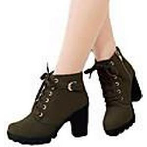 amingna Frauen im Martin Stiefel Stiefel mit hohen Absätzen groben Wurzeln