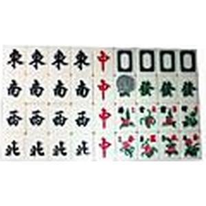 42mm Melamin Mahjong mit Tischdecke zu Hause Spielzeug