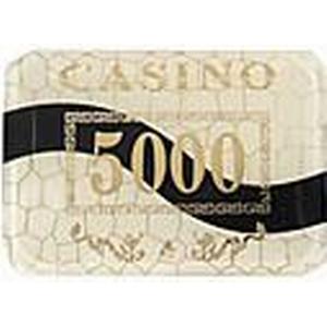 5000  Gold Sperrung Mahjong-Chip-Suite mit Anti-Fake-Zeichen Hause Spielzeug
