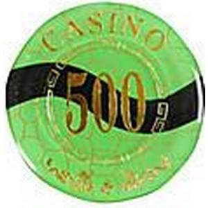 500 extravaganten Goldsperr gerundet Mahjong-Chip-Suite mit Anti-Fake-Zeichen Spielzeug